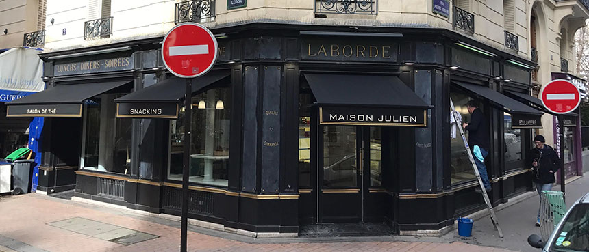 Store à projection pour la maison Julien
